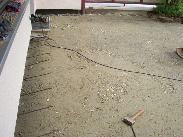 Verbindung Wand-, Bodenplatte vorbereiten
